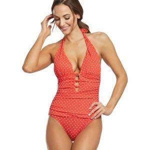 Ralph Lauren Haltel Red Bathing Suit